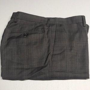 BANANA REPUBLIC 33 x 30 Gray Wool Dress Pants